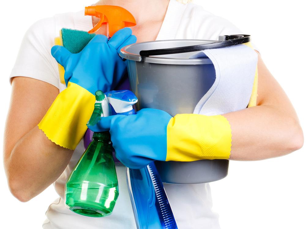 eigenes Reinigungsmaterial